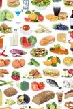 Légumes fruits de nourriture et de fond de collection de boissons d sain Photographie stock libre de droits