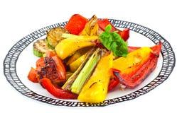 Légumes grillés d'une plaque Image libre de droits