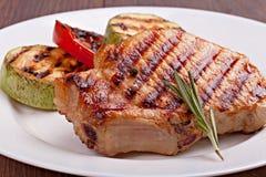 légumes grillés de bifteck Photos libres de droits