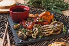 Légumes grillés organiques images stock