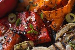 Légumes grillés organiques photo libre de droits