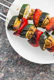 Légumes grillés sur la broche images libres de droits