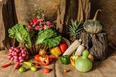 Légumes, herbes et fruits toujours de la vie. Photo stock