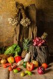 Légumes, herbes et fruits toujours de la vie. Photographie stock libre de droits