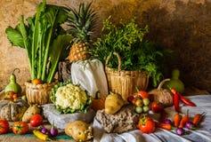 Légumes, herbes et fruits toujours de la vie Images libres de droits