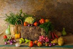 Légumes, herbes et fruits toujours de la vie Images stock