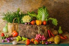 Légumes, herbes et fruits toujours de la vie Photos stock
