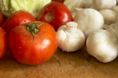 Légumes humides frais Image stock