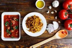 Légumes italiens faits maison de pâtes Photographie stock libre de droits