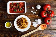 Légumes italiens faits maison de pâtes Photo libre de droits