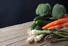 Légumes mélangés à bord Photographie stock libre de droits