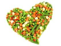 Légumes mélangés figés Image libre de droits