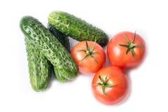 Légumes mûrs d'isolement sur le blanc Images stock