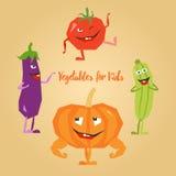 Légumes mignons de bande dessinée Illustration Libre de Droits