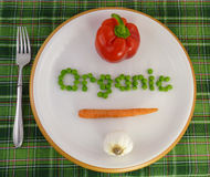 Légumes organiques d'une plaque Photos libres de droits