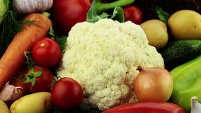 Légumes. Plan rapproché banque de vidéos