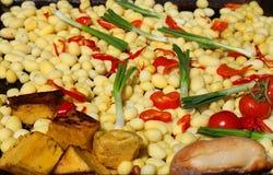 Légumes pour la viande grillée Image stock