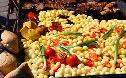 Légumes pour les viandes grillées Photographie stock libre de droits