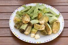 Légumes préparés pour la cuisson images libres de droits