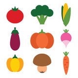 Légumes réglés Photos libres de droits