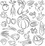 Légumes réglés Photographie stock