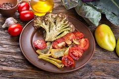 Légumes rôtis d'un plat Photographie stock