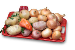 légumes rouges de plateau image stock