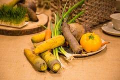 Légumes servis sur la table Images libres de droits