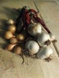 Légumes sur la table en bois Image stock