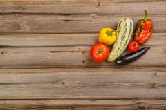 Légumes sur la table en bois Photographie stock