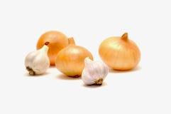 Légumes sur le fond blanc Images libres de droits