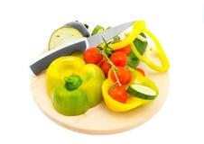 Légumes sur le fond blanc Photo libre de droits