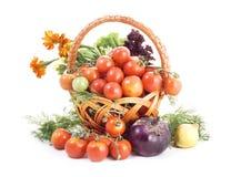 Légumes sur le fond blanc Photos libres de droits