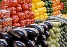 Légumes sur le marché d'épicerie Photographie stock libre de droits