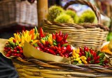 Légumes sur le marché, Italie Images libres de droits