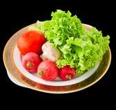 Légumes sur un champ de cablage à couches multiples Image libre de droits