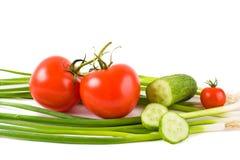 Légumes sur un fond blanc Photographie stock libre de droits