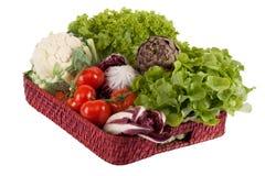 Légumes sur un plateau Image stock