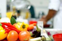 Légumes sur une cuisine Photo stock
