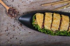 Légumes tarte, plan rapproché de nourriture Photo stock