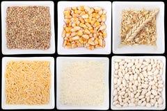 Légumineuses et céréales photographie stock libre de droits
