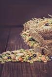 Légumineuses et céréales mélangées photographie stock