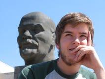 Lénine et homme Photos stock
