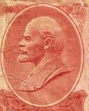 Lénine sur le billet de banque soviétique Photographie stock libre de droits