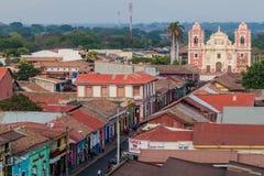 LÉON, NICARAGUA - 25 AVRIL 2016 : Église d'EL Calvario à Léon, Nicarag image libre de droits