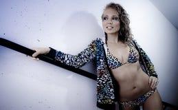 Léopard de bikini de Genève Photographie stock libre de droits