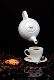 Lévitation de café Image libre de droits