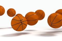 Lévitation des basket-balls Illustration Stock