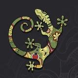 Lézard décoratif tribal de vecteur illustration libre de droits