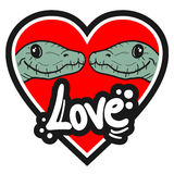 Lézard d'amour Photos libres de droits